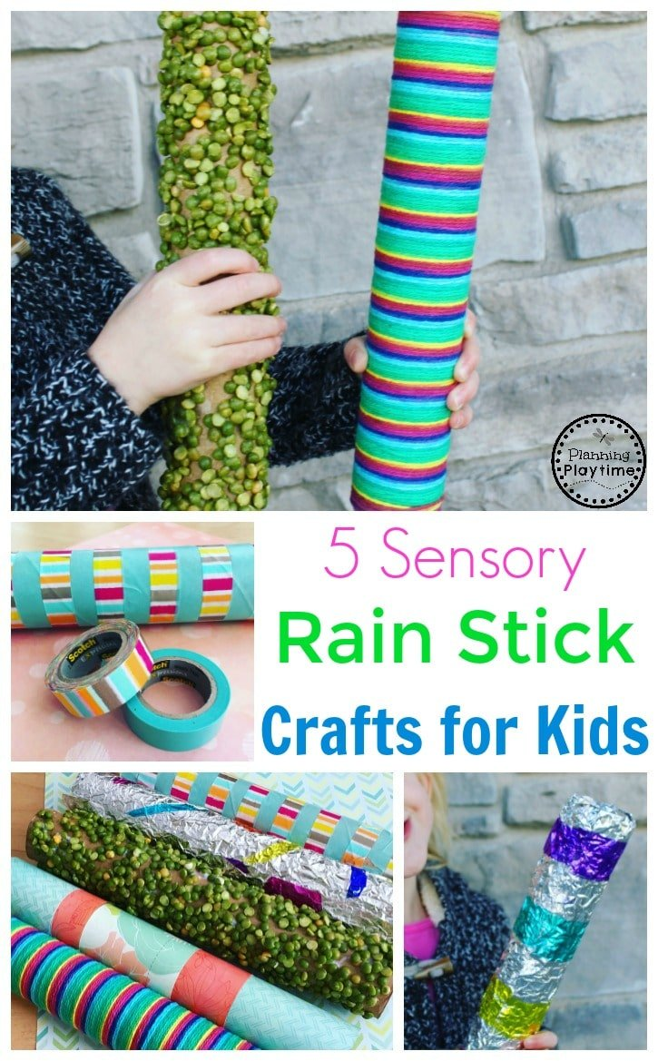 Five sensory rain stick crafts for kids planning playtime for Easy rain stick craft