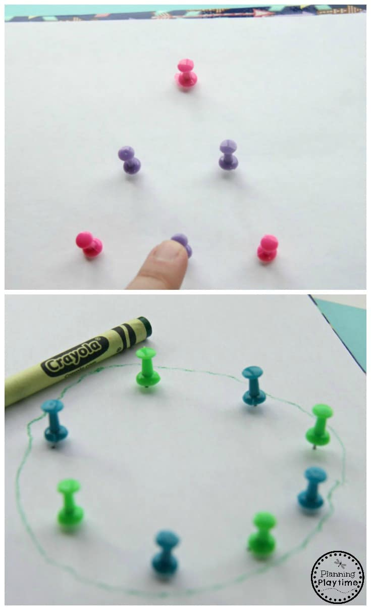 Drawing Shapes Pre-Writing Activity for Kids.