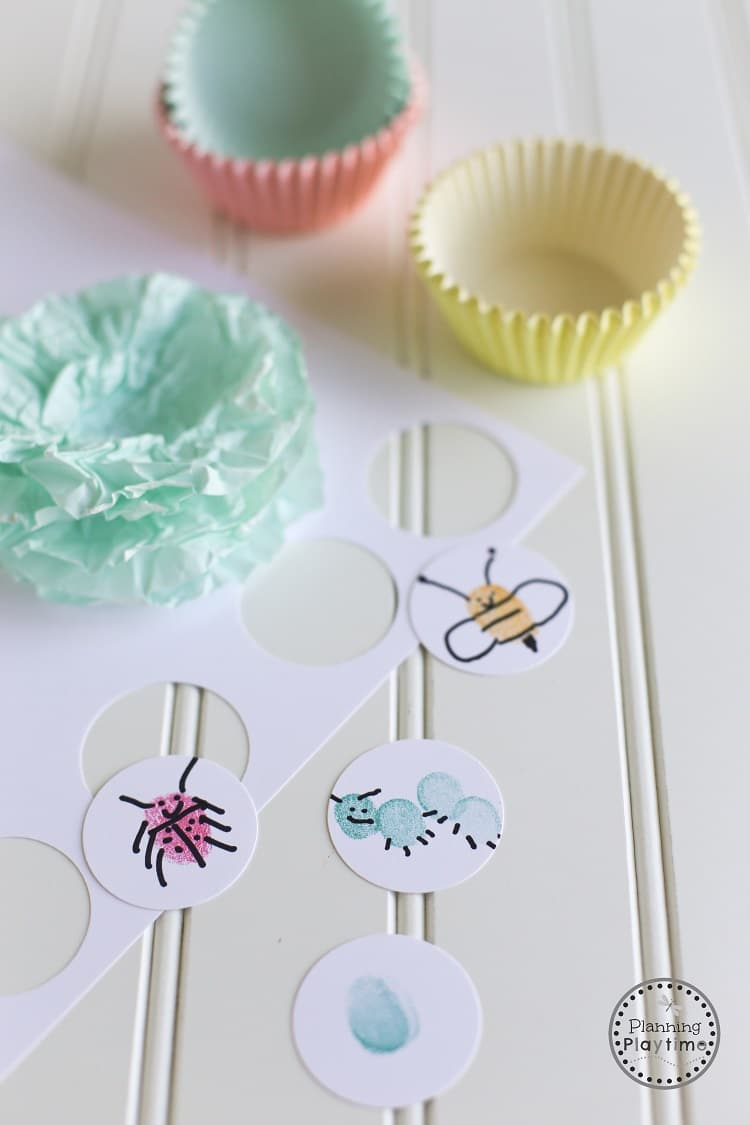 Mother's Day Craft for Kids - Cupcake Liner Flower Corsage