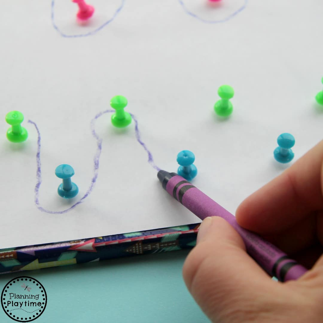 Push Pin Pre Writing Activity For Kids Planning Playtime