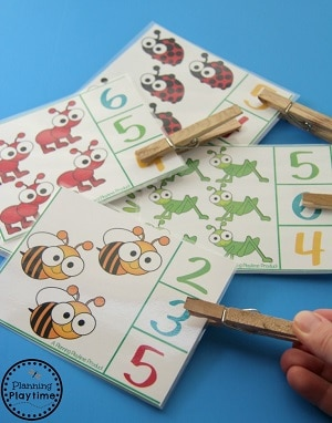 Spring Counting Centers for Preschool