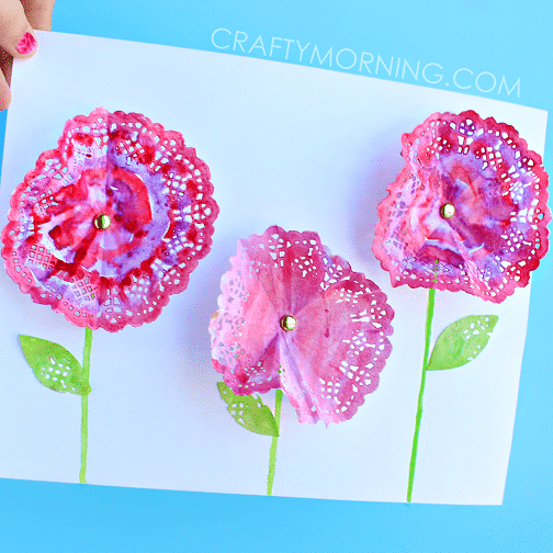 Spring Flowers Mother's Day Craft for Kids.