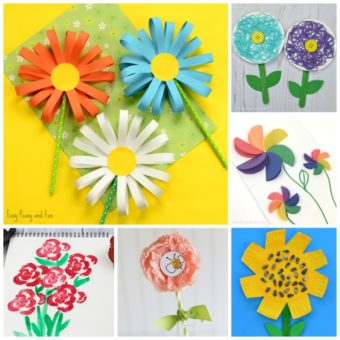 15 Fun Flower Crafts for Kids