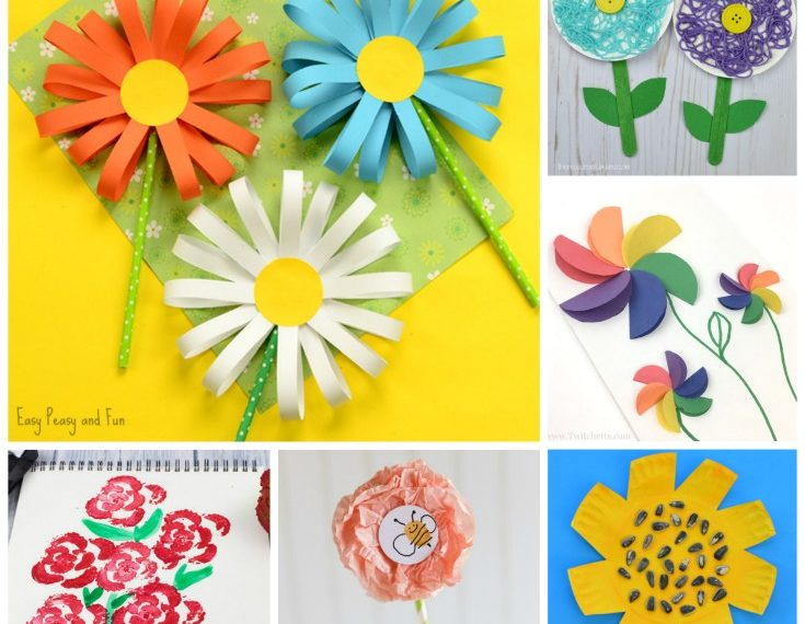15 Cute Flower Crafts for kids