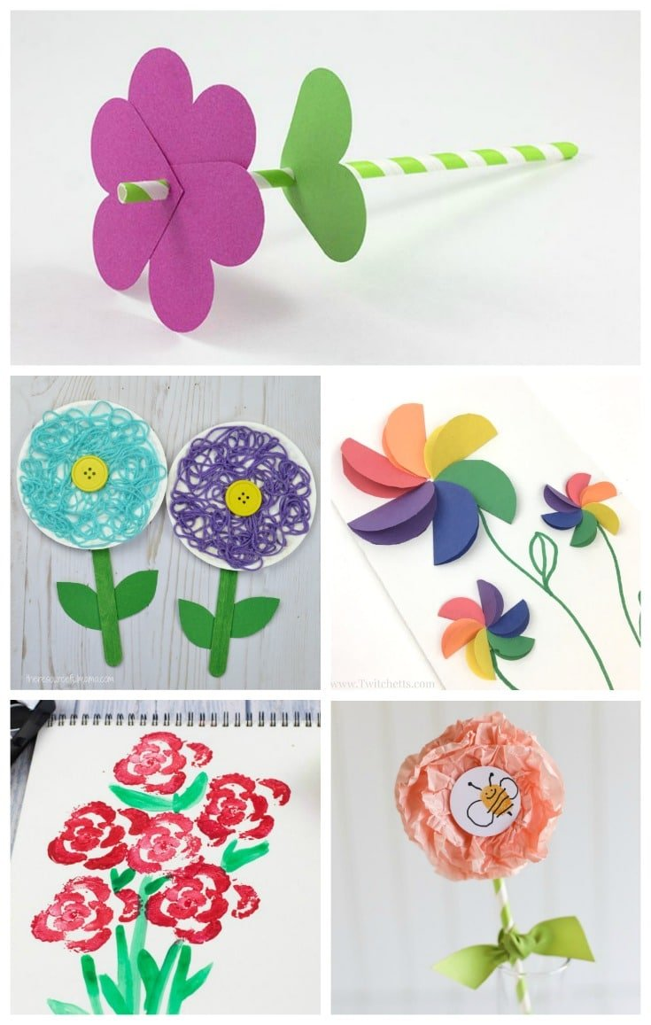 15 Fun Flower Crafts For Kids Planning Playtime