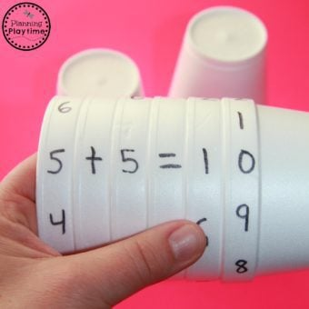 Cup Equations Math Activity for Kids