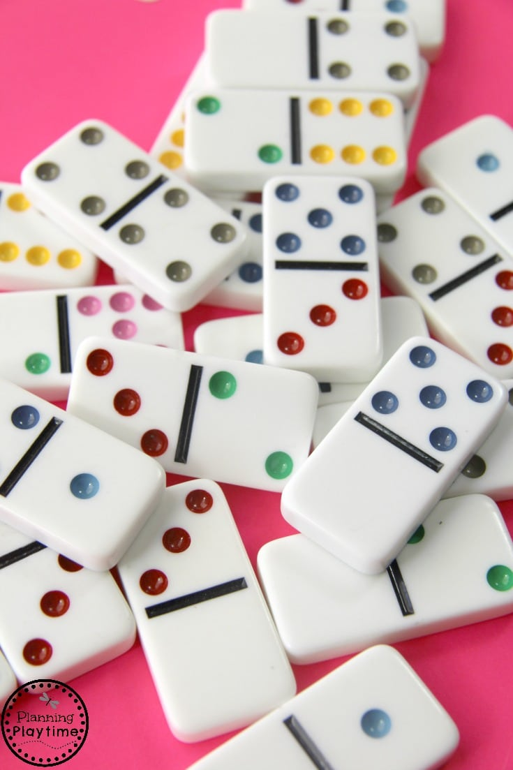 Cute Kindergarten Counting Activity using Dominoes and Uno Cards
