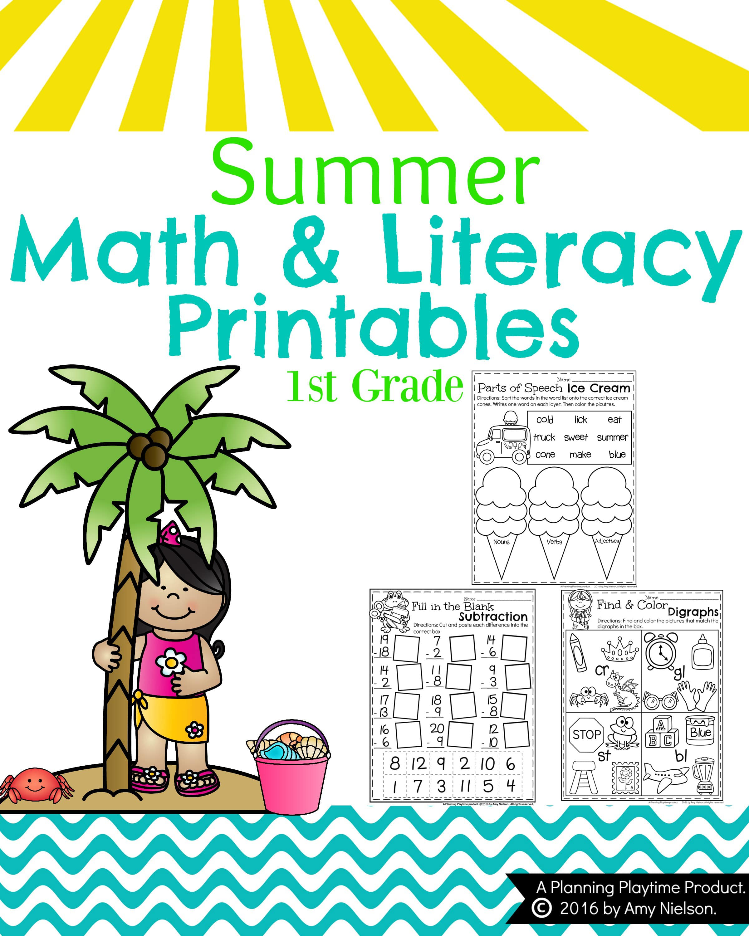 First Grade Summer Worksheets Planning Playtime