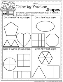 math worksheet : first grade summer worksheets  planning playtime : First Grade Fractions Worksheets