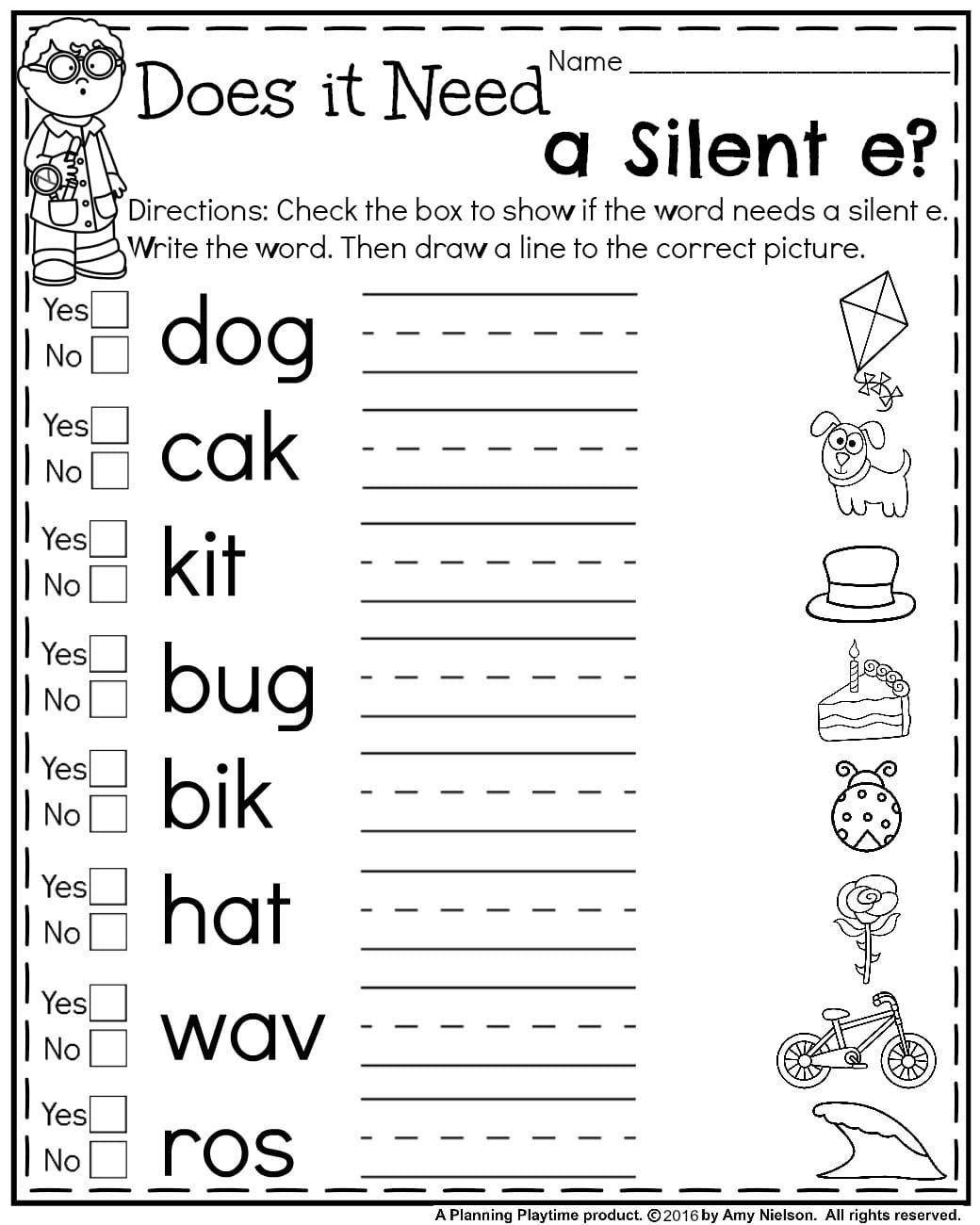 Free printable first grade worksheets phonics