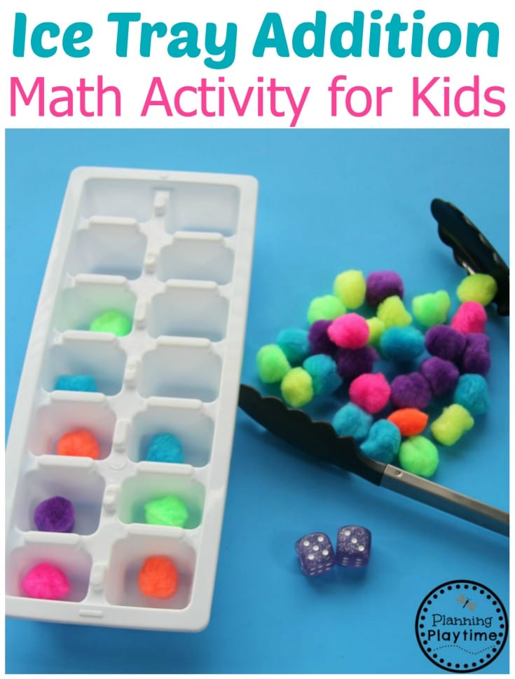 Fun Ice Tray Addition Activity for Kindergarten