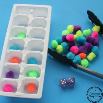 Ice Trays Addition Activity for Kids