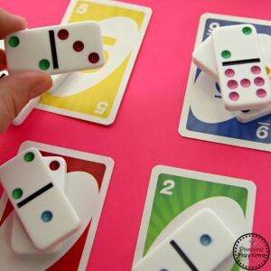 Kindergarten Counting Activity with Dominoes