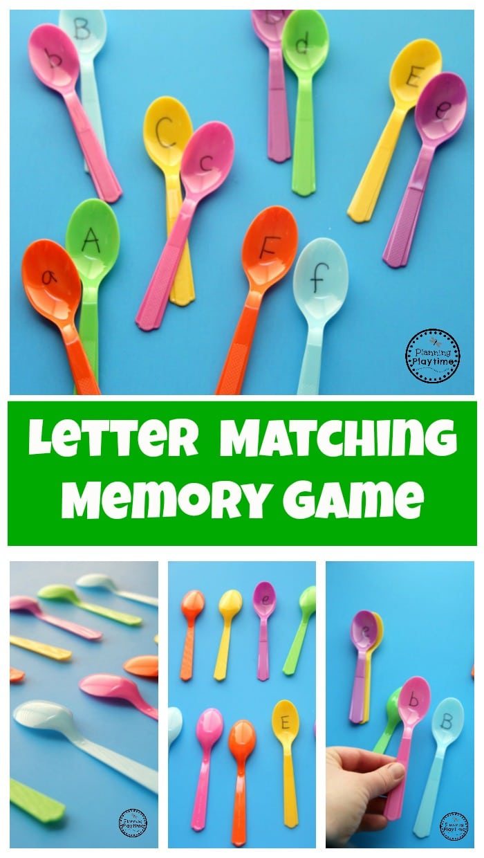 Preschool Letter Matching Game - Planning Playtime