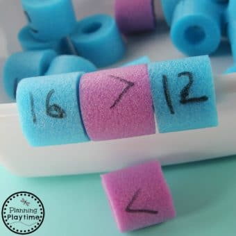 Pool Noodle Math Activity for kids.