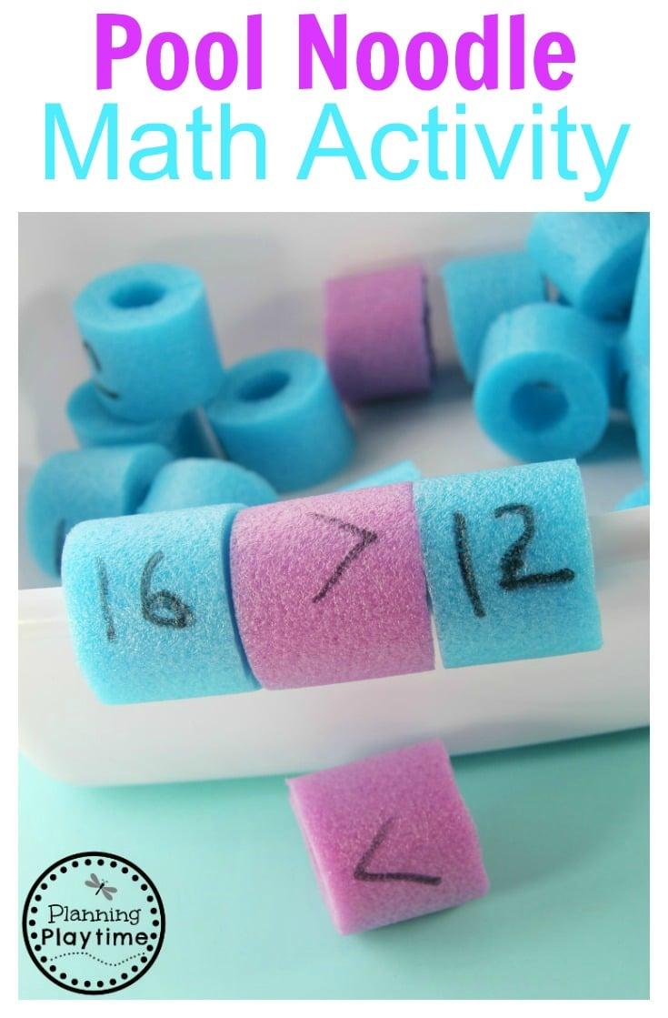 Pool Noodle Math Activity for kids