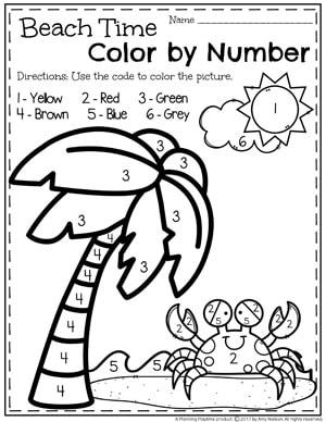 Summer Preschool Worksheets - Planning Playtime