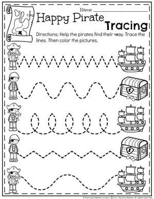 Summer Preschool Worksheets on Letter P Sheet