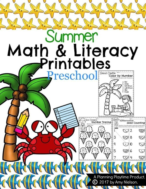 Summer Preschool Worksheets