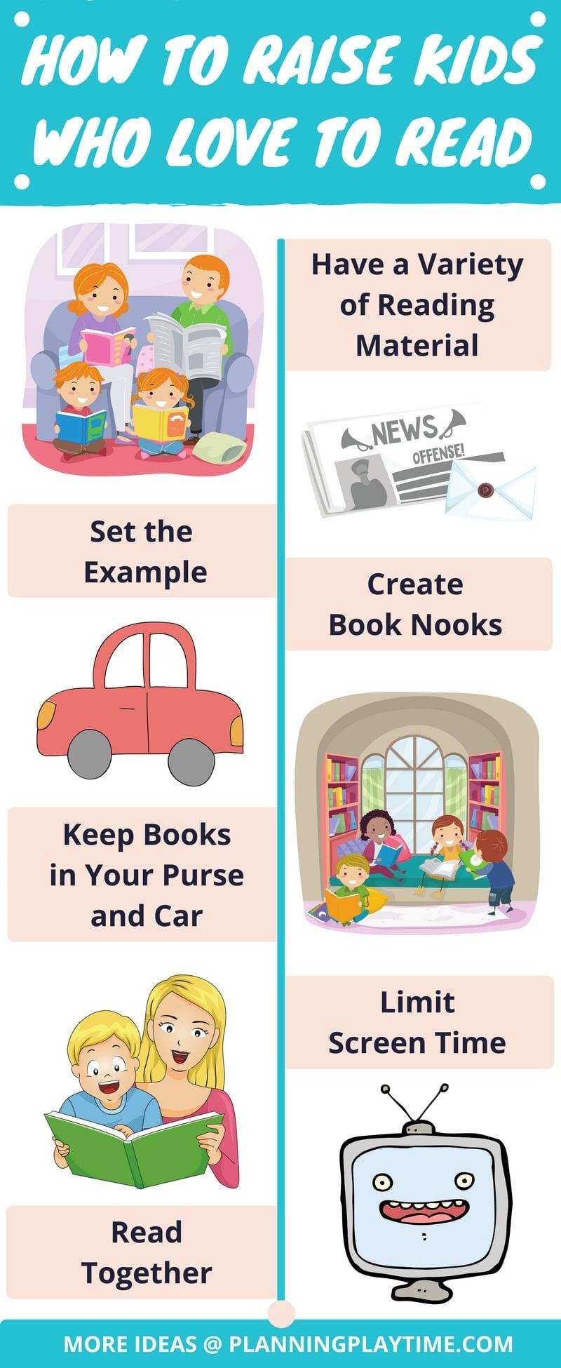 Tips for Raising Kids Who LOVE Reading