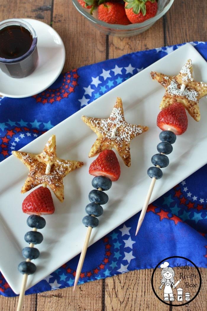 Fun, 4th of July Breakfast idea for kids.