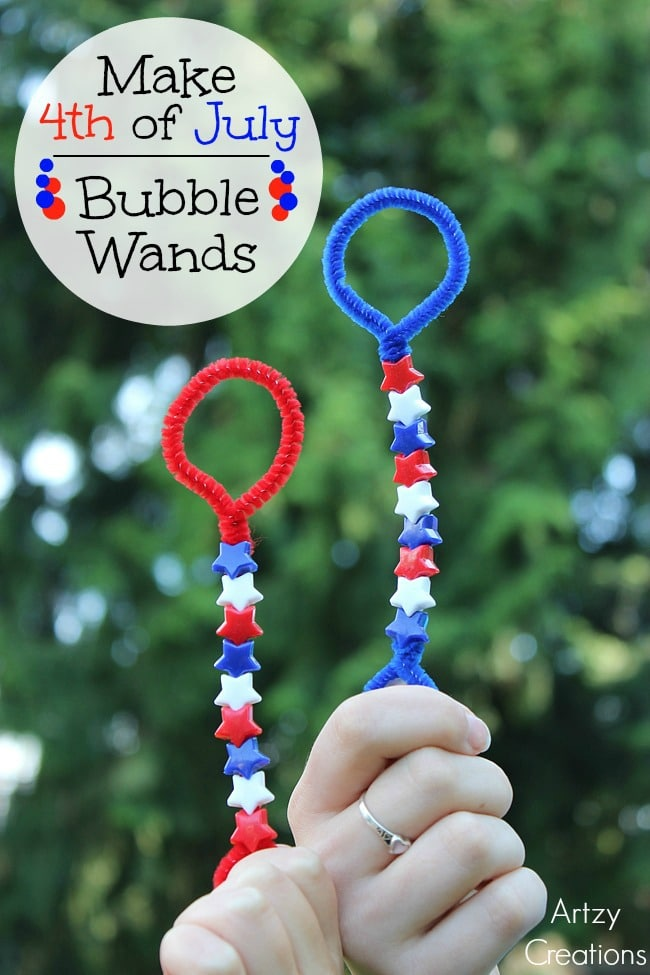 4th of July Bubble Wands and other fun Patriotic Crafts for kids.