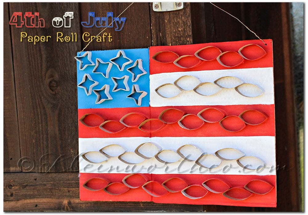 4th of July Toilet Paper Roll Craft for Kids