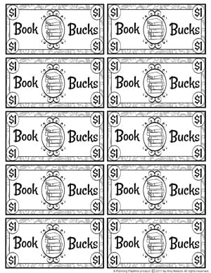 Book Bucks - Black and White