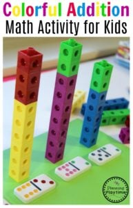 Colorful Addition Activity for Kids.
