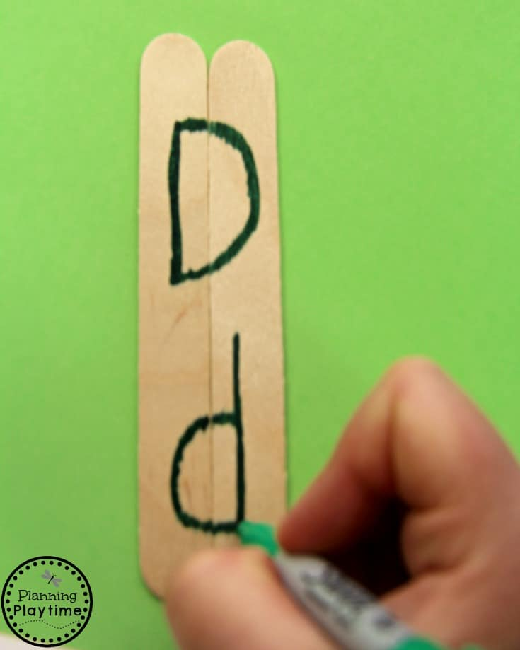 DIY Letter Matching Puzzles Activity for Preschool