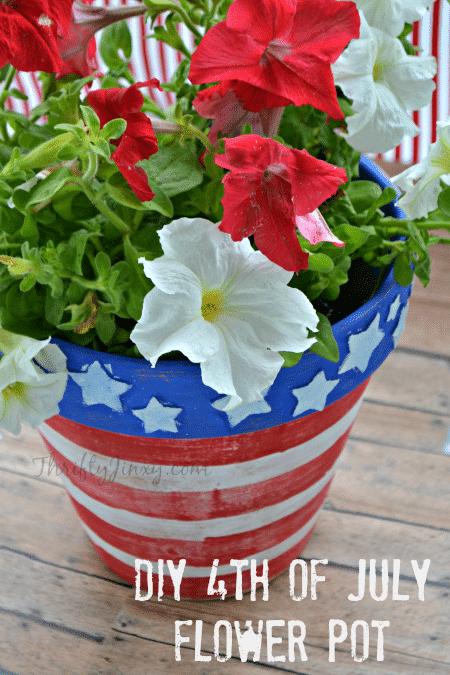 DIY Patriotic Flower Pot Craft for Kids
