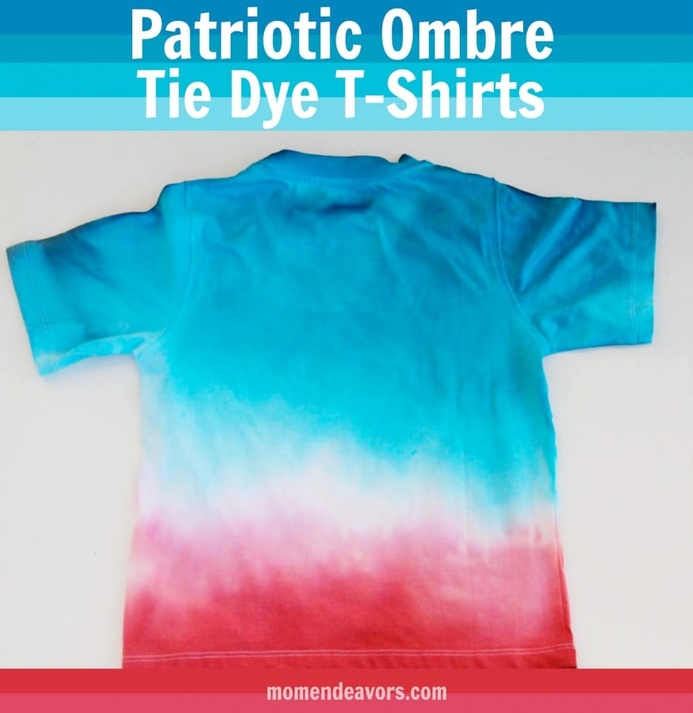 DIY Patriotic Tye Dye T-Shirt Activity and other fun 4th of July Crafts for kids