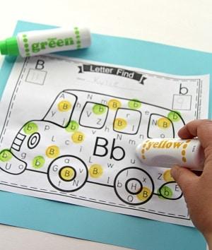 Preschool Letter Find Activity