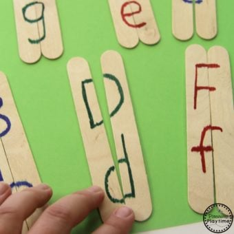 Preschool Letter Matching Activity
