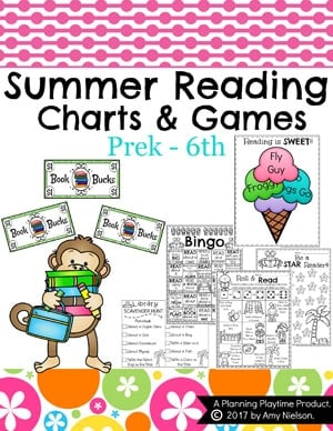 Summer Reading Activities and Charts for Kids