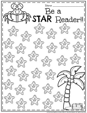 Summer Reading Chart - Be a Star Reader!!