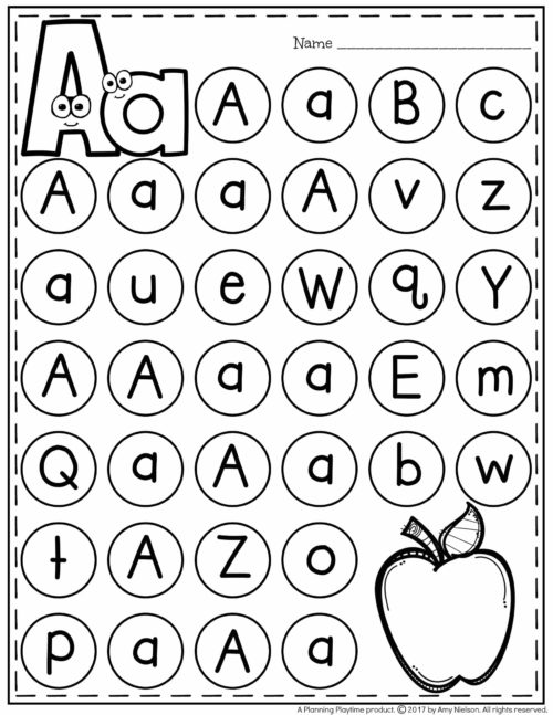 letter recognition worksheets planning playtime. Black Bedroom Furniture Sets. Home Design Ideas