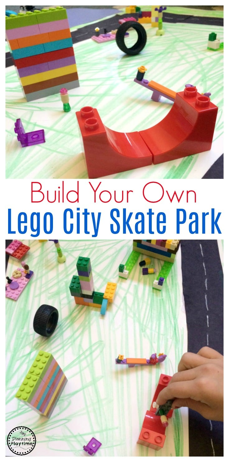 Build a Lego Skate Park and other fun Lego city sets.