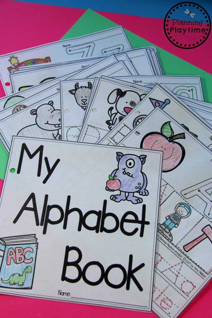Build your own Alphabet Books for Preschool or Kindergarten.