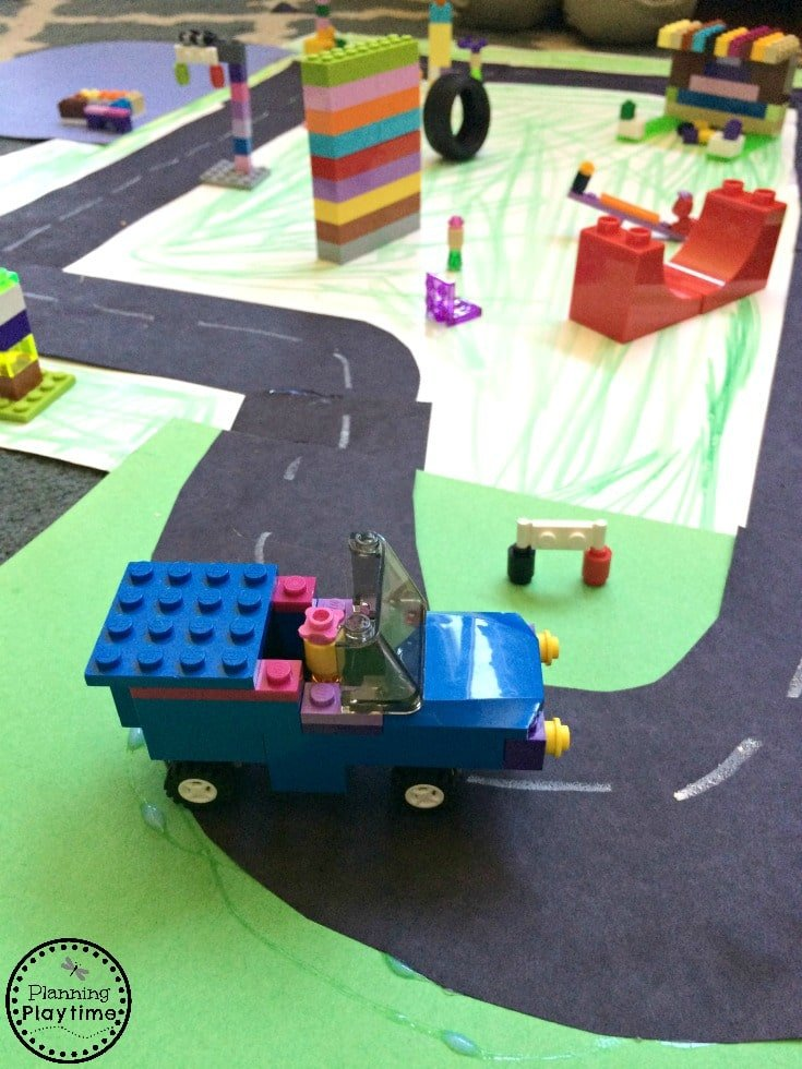 Build your own Lego city - Great creative play activity.