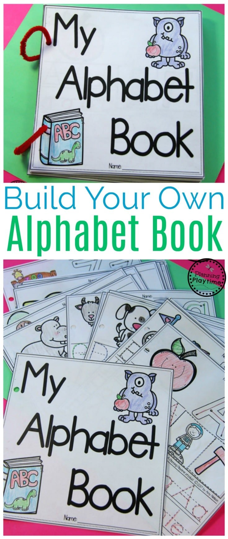 DIY Alphabet Books for Preschool or Kindergarten