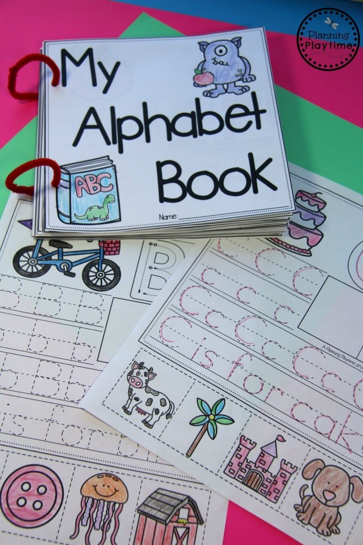 DIY Alphabet Books for preschool and Kindergarten.