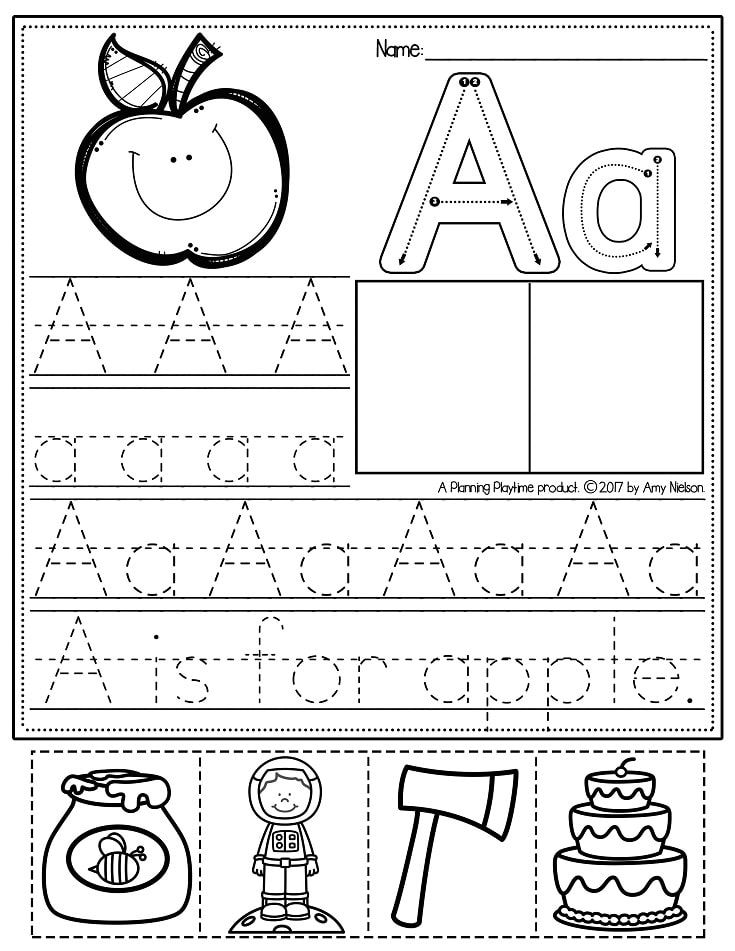 Free Letter A Worksheet