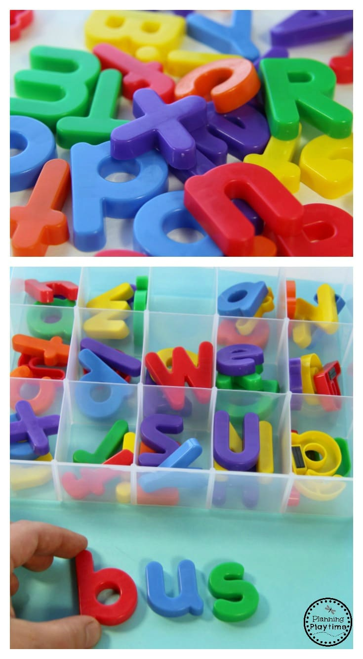 Kinder Reading Activity - CVC Word Sorter fun.