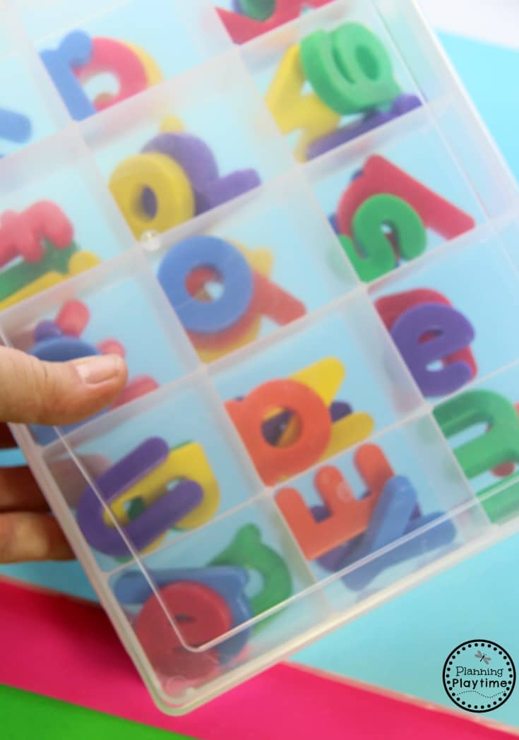 Kinder Reading Activity - CVC Word Sorter. Pull the letters out of each compartment to make a word.