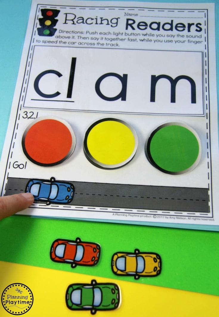 Kindergarten Reading Activity - Blends