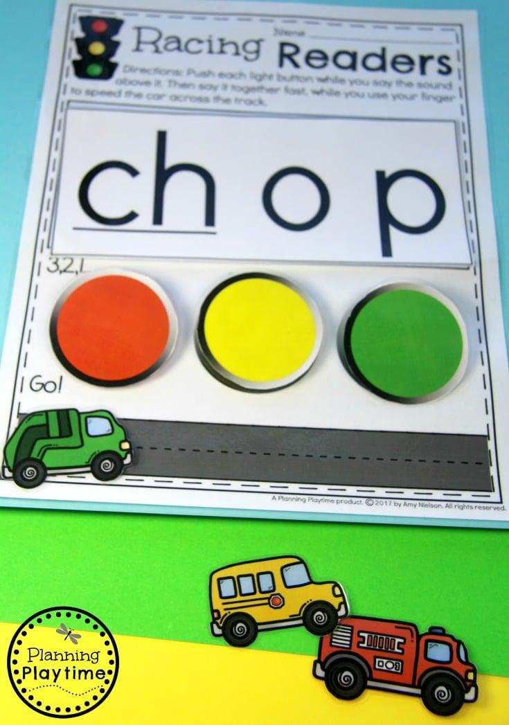 Kindergarten Reading Activity - Digraph Words