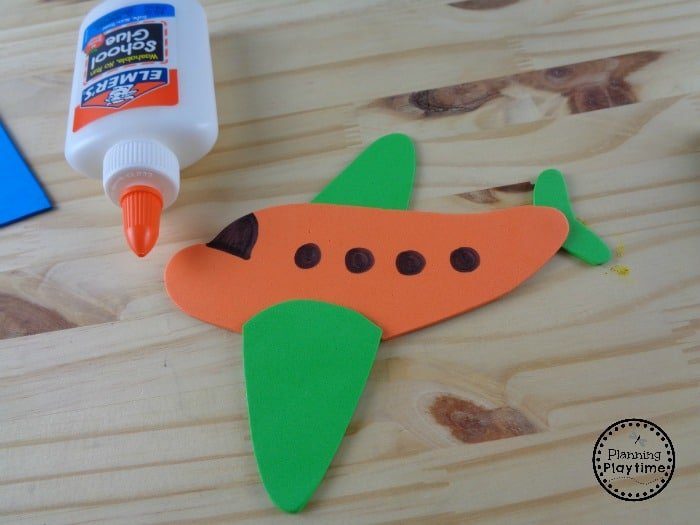 Letter A Airplane Craft