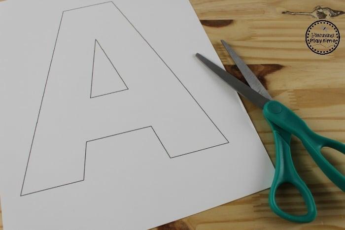Letter A Preschool Craft Pattern