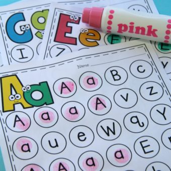 Letter Worksheets - Alphabet Mazes for Preschool or Kindergarten.